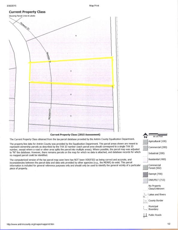 Land for Sale, ListingId:32752088, location: Harwood Circle Mancelona 49659