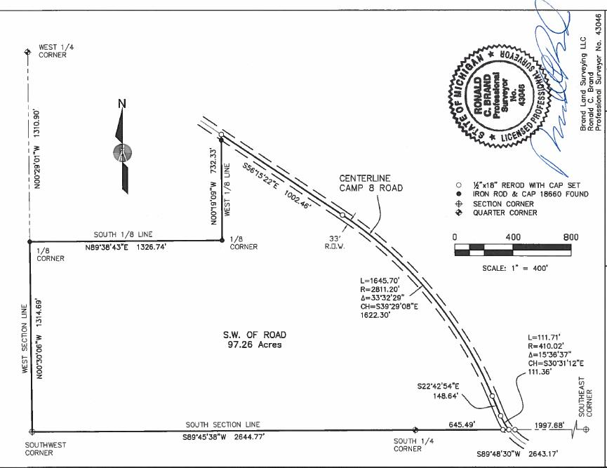 10099 Camp 8 Road 97.26 Acres Atlanta, MI 49709